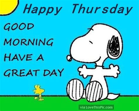 snoopy happy thursday good morning pictures