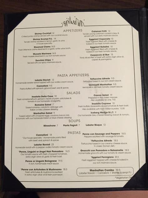 In Room Dining Menu by Manhattan Of La Jolla La Jolla Ca California Beaches