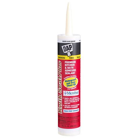 bathroom caulk reviews dap kwik seal plus 10 1 oz kitchen and bath adhesive