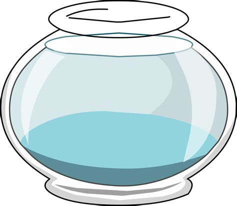 coloring page fish bowl empty empty fish bowl coloring page clipart best