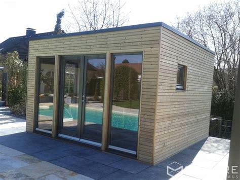 poolhaus deutschland saunahaus square xl als poolhaus mit sauna fassade