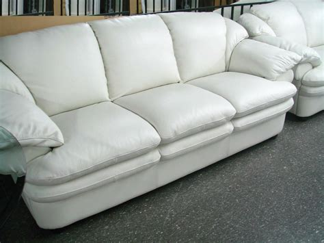 White Leather Sofa For Living Room Traba Homes