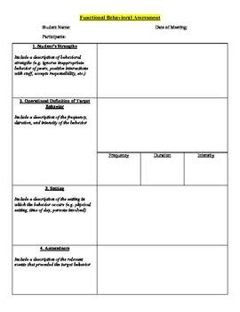 social work management plan template 27 best images about positive behavior plan on