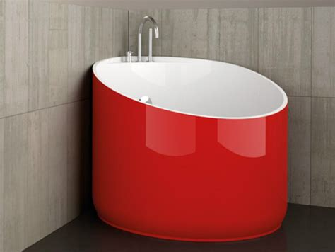 red bathtubs corner round bathtub mini red ferrari by glass design