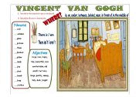 Gogh Bedroom Lesson Plan Writing Vincent Gogh 180 S Bedroom