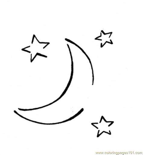free moons and stars coloring pages