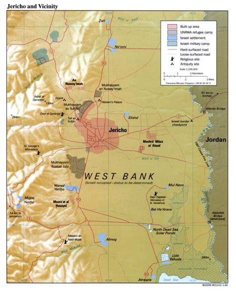 middle east map west bank west bank and vicinity map atlas picture photograph