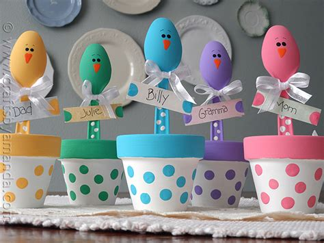 crafts adults easter craft colorful place holders