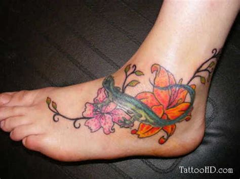 51 Glamorized Foot Flower Tattoos And Designs Flower Foot Tattoos Pictures