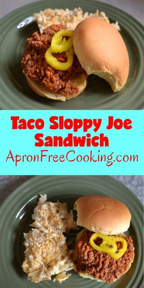 taco sloppy joes apron free cooking
