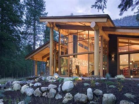 modern cabin small modern mountain home plans