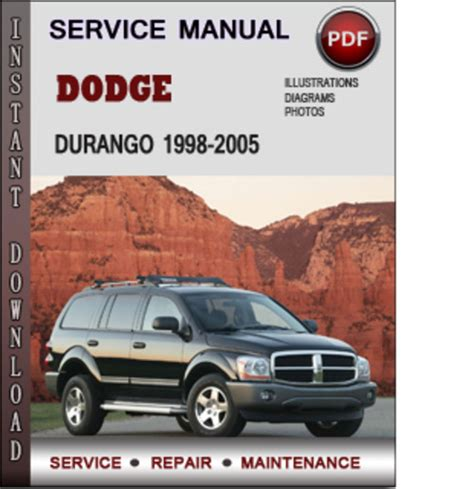 dodge durango 2001 factory service repair manual pdf zip download dodge durango 1998 2005 factory service repair manual download pdf