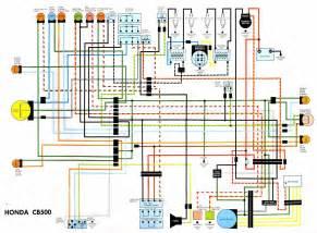 honda cb500 electrical wiring diagram circuit wiring diagrams
