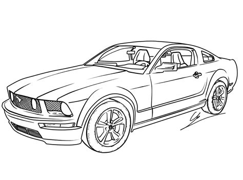 printable car images free printable mustang coloring pages for kids coloring