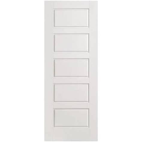 Riverside Interior Door by Masonite 24 In X 80 In Riverside Smooth 5 Panel Equal