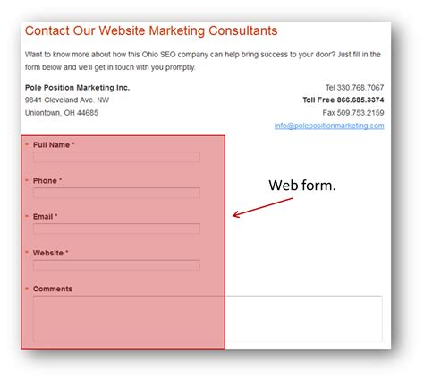 contact us form how to snag a sale from a simple contact us page
