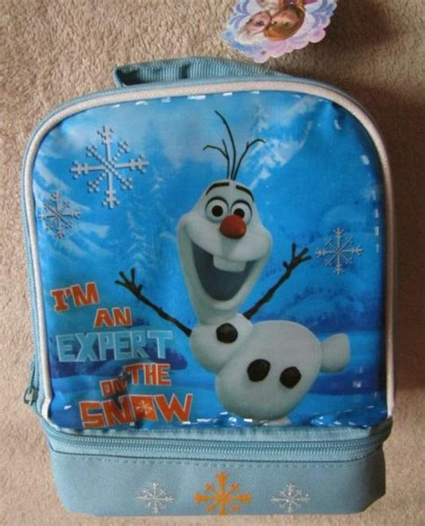 Snow Frozen Lunchbox disney s frozen olaf expert on snow dual lunch box bag tote ebay