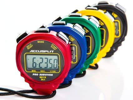Stopwatch Anytime Xl 018 Stopwatch Water Resist accusplit 174 pro survivor stopwatches