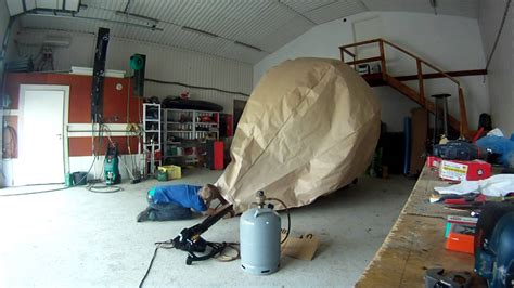 How To Make A Paper Balloon Fly - paper air balloon with gopro