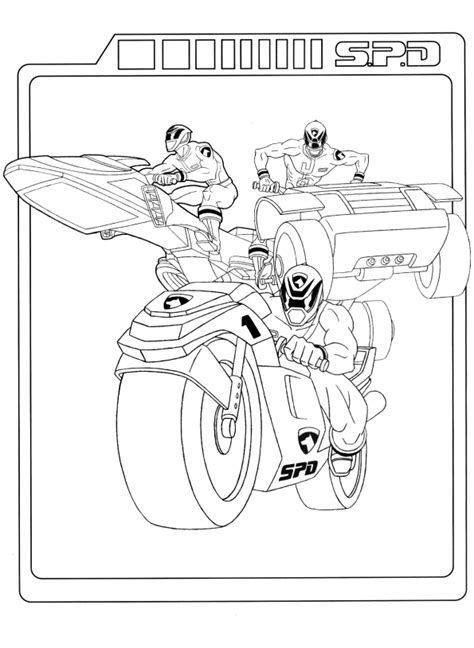 Power Rangers Coloring Pages Coloringpages1001 Com Power Rangers Spd Coloring Pages