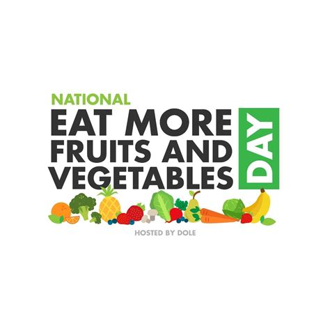 9 fruits and vegetables a day today is now national eat more fruits vegetables day
