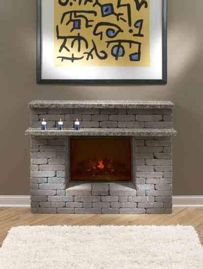 Building A Fireplace How To Build A Fireplace Surround Using Pavers Diy
