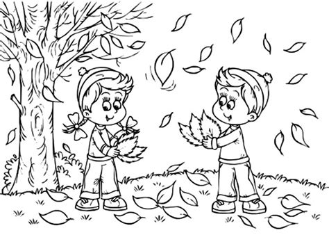 easy preschool fall leaves coloring pages printable kids