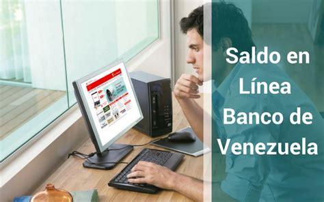 consultar tarjeta del banco de venezuela consultar saldo de tarjeta de credito del banco del tesoro