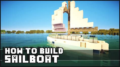 how to make a sailboat in minecraft minecraft how to make sailboat youtube