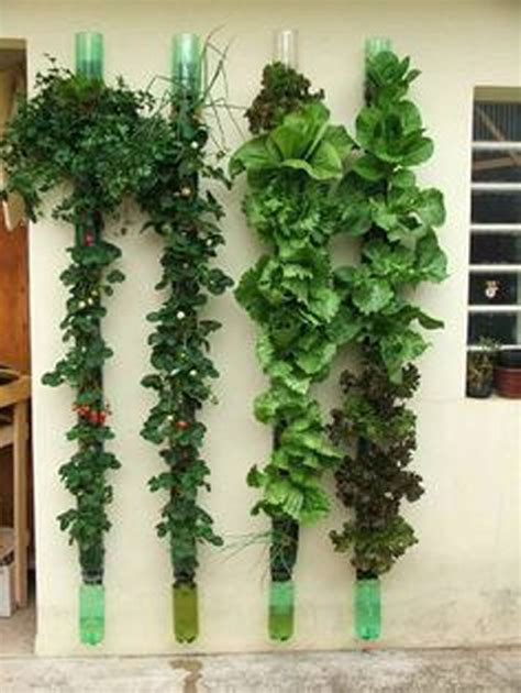 Recycled Vertical Garden Recycled Plastic Bottles Gardening Ideas Recycled Things