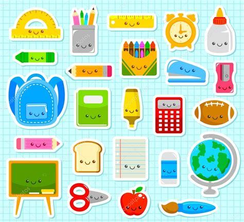 imagenes de utiles escolares a color para imprimir art 237 culos escolares lindas vector de stock