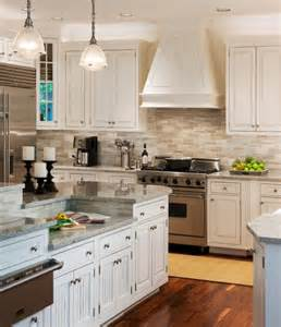 neutral backsplash kitchen pinterest