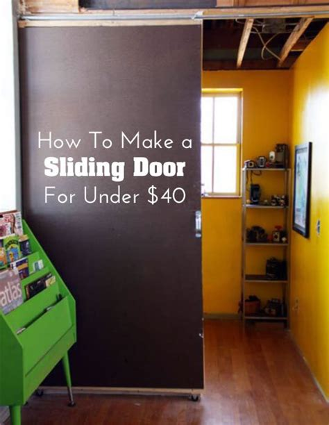 diy home decor     sliding door