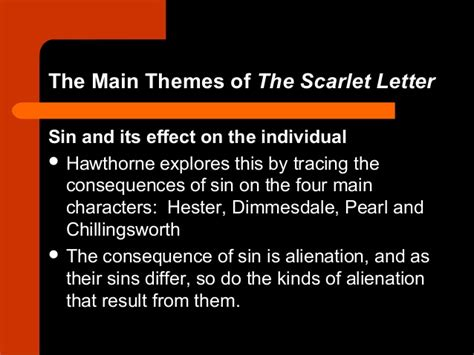 scarlet letter important themes introduction to the scarlet letter