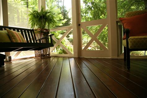 Screen Porch Flooring by Unbelievably Stunning Wood Floor On Macon Screened Porch