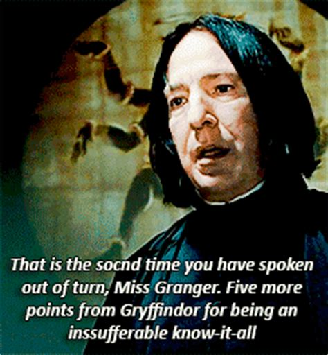 five points to gryffindor by akabur image 3 5 times professor snape gave you the chills