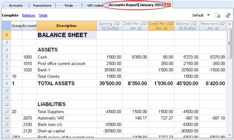 Accounting Table by Journal Ledger And Trial Balance Gl Summary Trial Balance