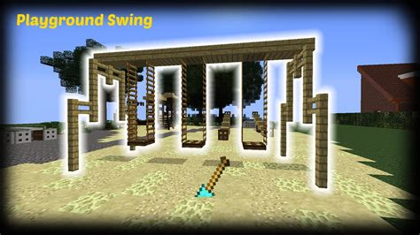 minecraft swing minecraft how to make a playground swing youtube