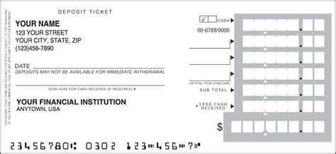 Business Deposit Tickets Slips And Books Us Bank Deposit Slip Template