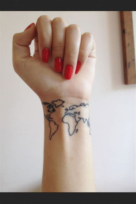 world tattoo wrist tattoo tattoo pinterest