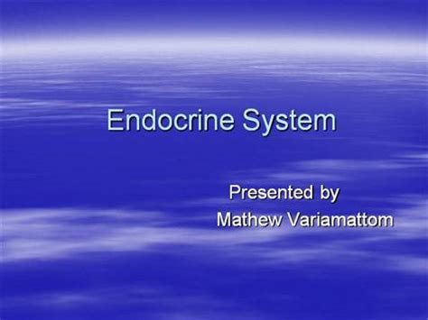 Endocrine System Authorstream Endocrine System Powerpoint Presentation