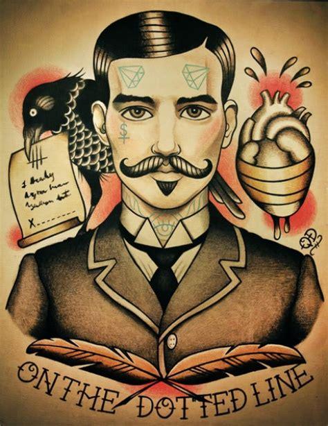 tattoo old school gentleman tattoo art by artist quyen dinh long john