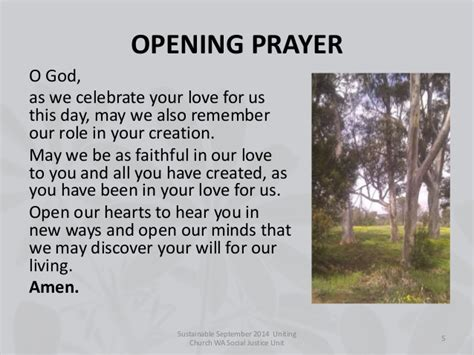 opening prayer for church