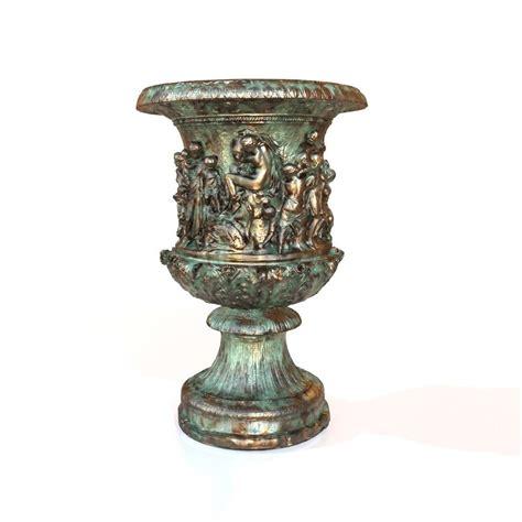 Low Vase by 3d Model Antique Vase Vr Ar Low Poly Obj Fbx