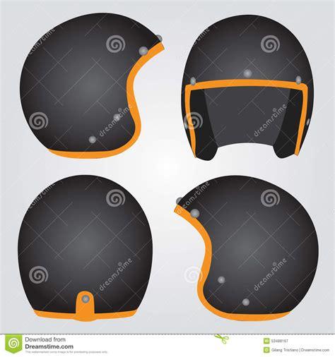 bike helmet design template retro helmet stock vector image 53488197