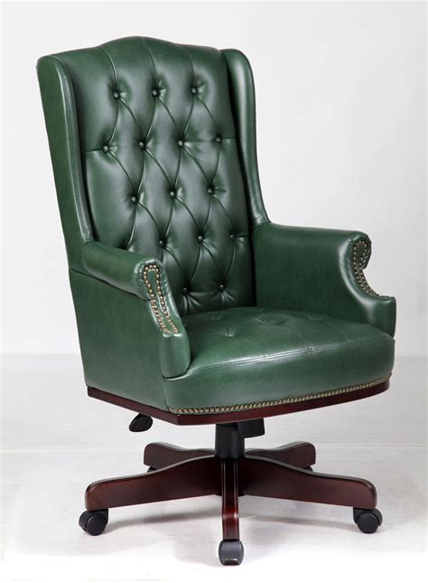 executive desk chair leather chesterfield style executive office desk chair leather