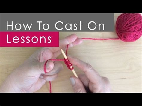 how to cast on thumb method knitting knitting 101 how to cast on for beginners 2 of 7 doovi