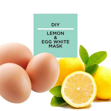 diy lemon egg white mask for