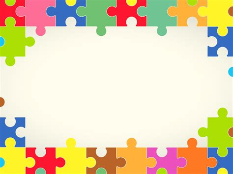 Colourful Puzzles Powerpoint Templates Border Frames Objects Free Ppt Backgrounds And Border Templates For Powerpoint