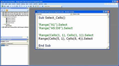 format excel range vba excel macro vba tip 15 combine the range and cells